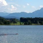 Abtsdorfer See bei Abtsdorf - einer der wärmsten Seen in Oberbayern
