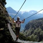 Klettersteig über dem Königssee, am Grünstein